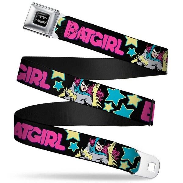 Batman Full Color Black Silver Black Batgirl Running W Stars Black Pink Seatbelt Belt