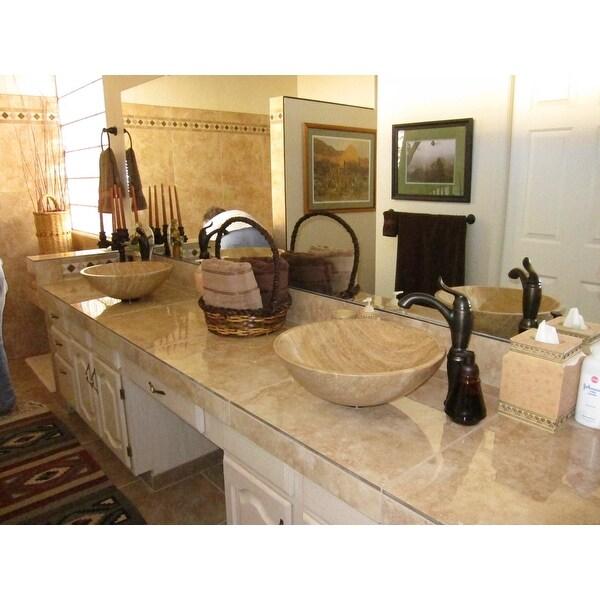 Travertine Vessel Sink Vanity Furniture Fantastic Bathroom Corner