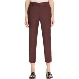 Theory Womens Treeca 2 Dress Pants Wool Blend Flat Front