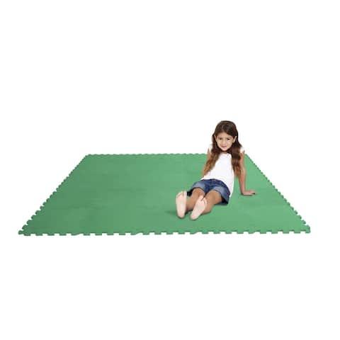 Edushape Puzzle Play Mat Set, 12 Inches, Green, Set of 25