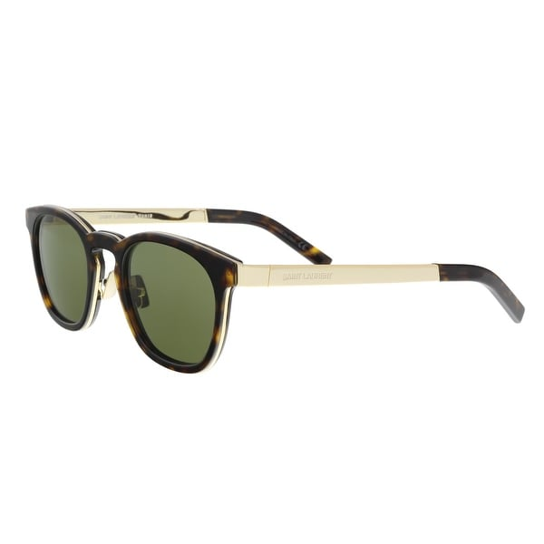 43e4f48a8e0 Shop Saint Laurent SL 28 COMBI 004 Havana Gold Square Sunglasses ...