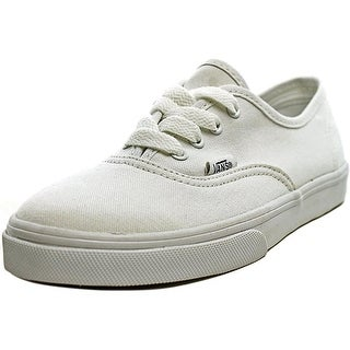 Vans Authentic Lo Pro Youth  Round Toe Canvas White Sneakers