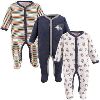 Luvable Friends Boys 0-9 Months Tough Guy Sleep and Play 3-Pack