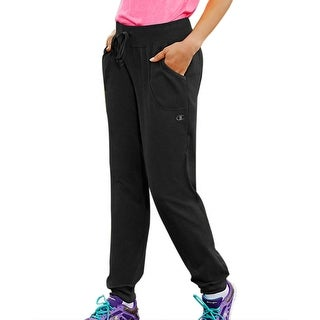 Champion NEW Black Womens Size XL Jogger Drawstring Pants Stretch