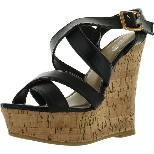 Spirit Moda Ava-1 Women Gladiator Platform Wedges Sandals