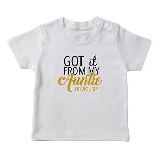 """""""Got It From My Auntie Obviously"""" Funny Quote Girl's T-shirt (More options available)"""
