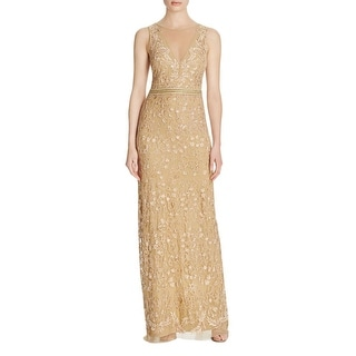 Nicole Miller Womens Evening Dress Embroidered Sleeveless
