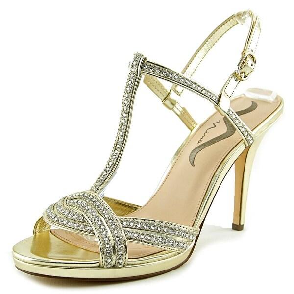 Nina Rynette Women Open Toe Synthetic Gold Sandals