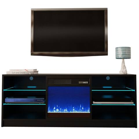 "Manhattan Electric Fireplace Modern 58"" TV Stand"