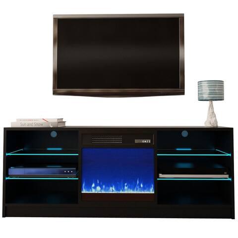 "Manhattan Electric Fireplace Modern 58"" TV Stand"