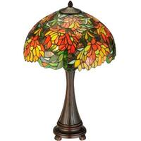 "Meyda Tiffany 138122 Lamella 2 Light 25"" Tall Hand-Crafted Table Lamp with Stained Glass - n/a"