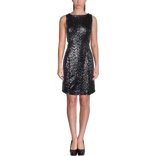 Kensie Womens Clubwear Dress Sequined Cut-Out