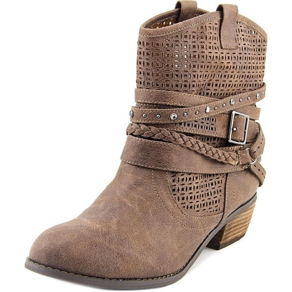 Not Rated Van De Vort Women Round Toe Synthetic Ankle Boot