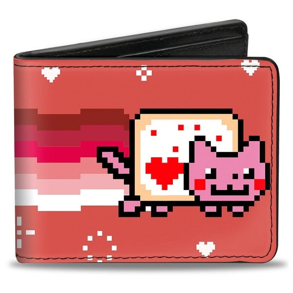 Valentine's Nyan Cat Red Bi Fold Wallet - One Size Fits most