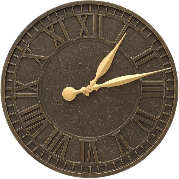 Whitehall Geneva 16-in Indoor Outdoor Wall Clock (French Bronze) - Bronze