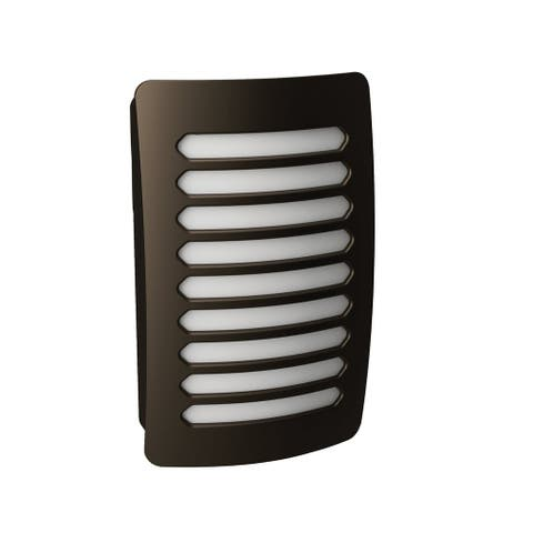 AmerTac NL-DPLV-DB Westek Louver Decoplug LED Night Light, Aged Bronze
