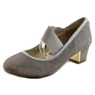 Stuart Weitzman Erica Marie Youth Round Toe Synthetic Gray Mary Janes
