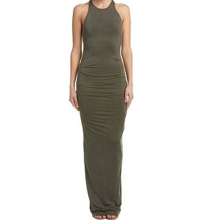 Nicole Miller NEW Olive Green Womens Size 12 Cross-Back Maxi Dress