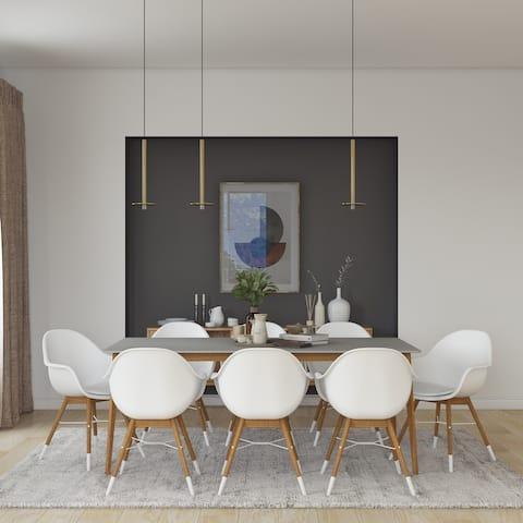 Midtown Concept Brune 9pc Wood Indoor Dining Set