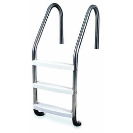 """52"""" Three Step Stainless Steel In-Ground Swimming Pool Deck Ladder"""