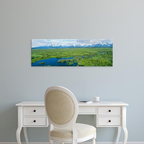 Easy Art Prints Panoramic Images's 'Beaver pond, Willow Flats, Grand Teton National Park, Teton, Wyoming' Canvas Art