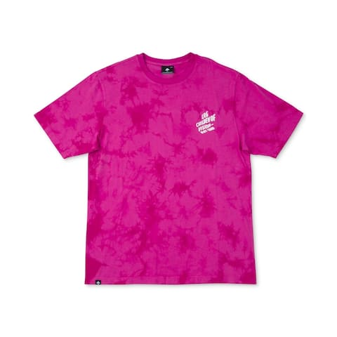 LRG Mens T-Shirt Pink Size Large L Tie-Dye 147% Wild Life Graphic Tee