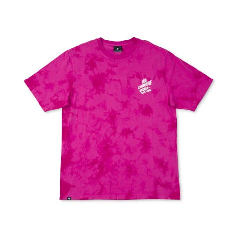 LRG Mens T-Shirts Pink Size Small S Tie Dyed Logo Print Graphic Tee