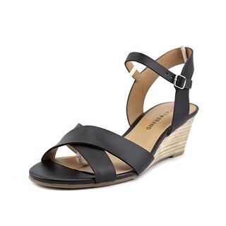 Lucky Brand Jaidan Open Toe Leather Wedge Sandal