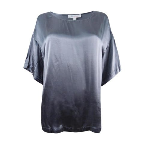 Two by Vince Camuto Women's Ruffle-Sleeve T-Shirt (M, Iron Grey) - Iron Grey - M