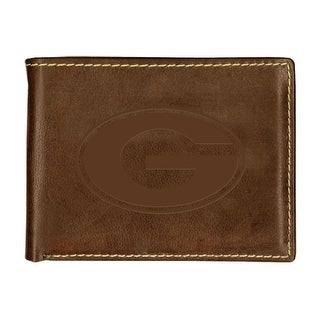 University of Georgia Contrast Stitch Bifold Leather Wallet