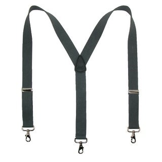 CTM® Men's Big & Tall Elastic Solid Color Y-Back Suspender with Swivel Hook Ends