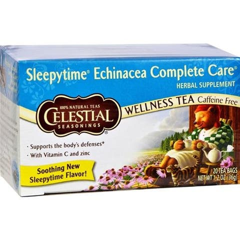 Celestial Seasonings - Sleepytime Echinacea Complete Care Wellness Tea ( 6 - 20 BAG)