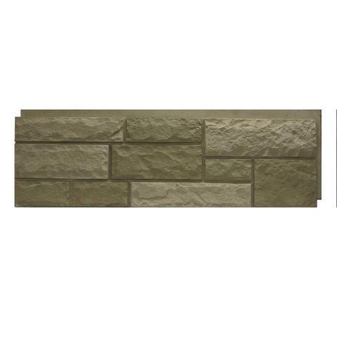 NextStone Polyurethane Faux Stone Random Rock Panel - Desert Buff