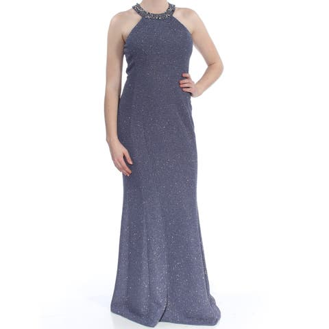432e083009f NIGHTWAY Womens Gray Embellished Sleeveless Full-Length Body Con Formal  Dress Size  8