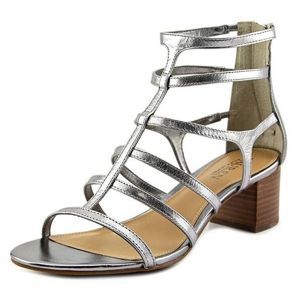Lauren Ralph Lauren Madge Women Open Toe Leather Silver Sandals