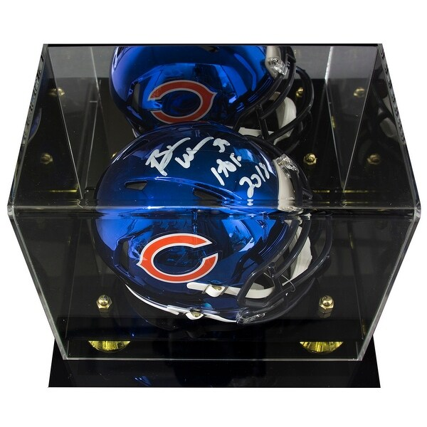 aacd62655dd Shop Brian Urlacher Signed Bears Chrome Mini Speed Helmet HOF JSA w/ Deluxe  Acrylic Case - Free Shipping Today - Overstock - 25677892