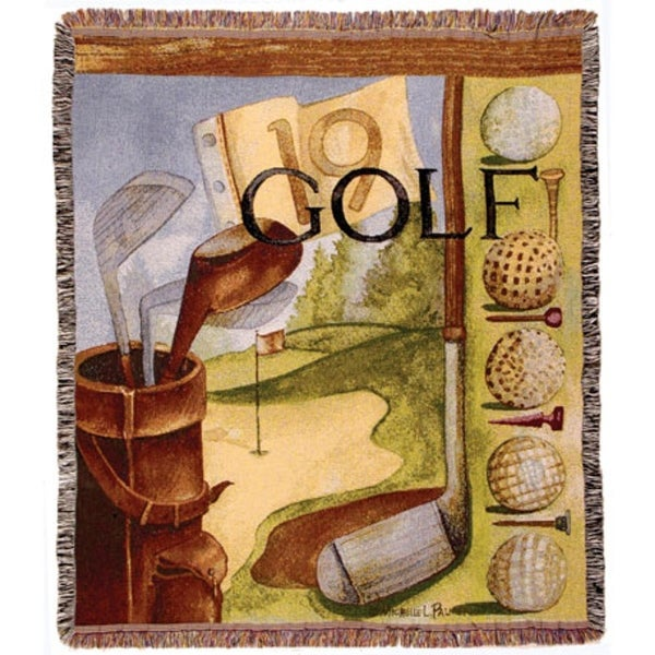"Vintage Golf Sports Tapestry Throw Blanket 50"" x 60"""