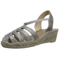 André Assous Womens Desi Suede Closed Toe Casual Espadrille Sandals