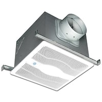 Air King E130DG 130 CFM 0.3 Sone Ceiling Mounted Dual Speed Motion Sensing Energy Star Rated Exhaust Fan - White - n/a