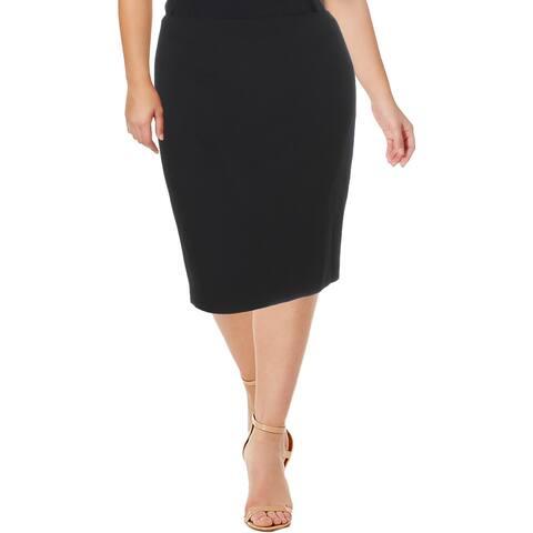 Anne Klein Womens Pencil Skirt Textured Lined