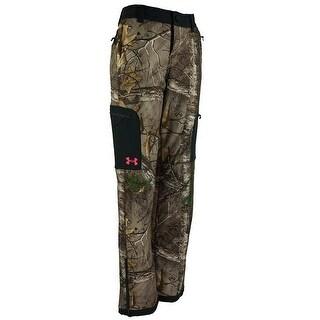 Under Armour Womens Icon Camo Realtree/Pink Chroma Medium Mid Season Pants