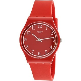 Swatch Sunetty GR175 Red Silicone Swiss Quartz Fashion Watch