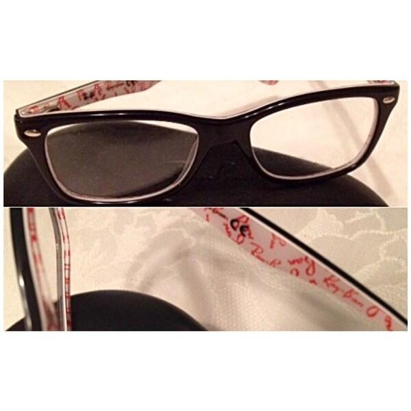 61dfac3dcc8 Shop Ray-Ban  RX 5228 5014  Black Logo Print Eyeglass Frames - Free  Shipping Today - Overstock - 8896419