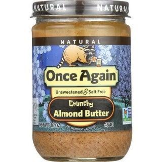 Once Again - No Salt Crunchy Almond Butter ( 12 - 16 OZ)