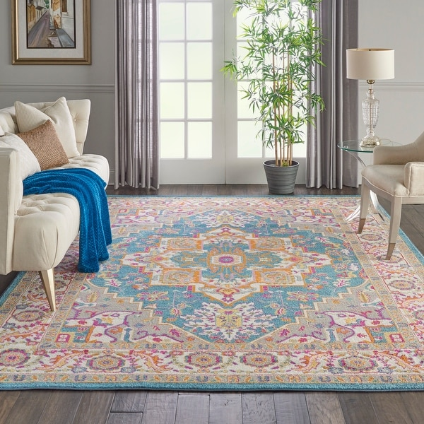 The Curated Nomad Cayuga Oushak Bohemian Medallion Area Rug. Opens flyout.