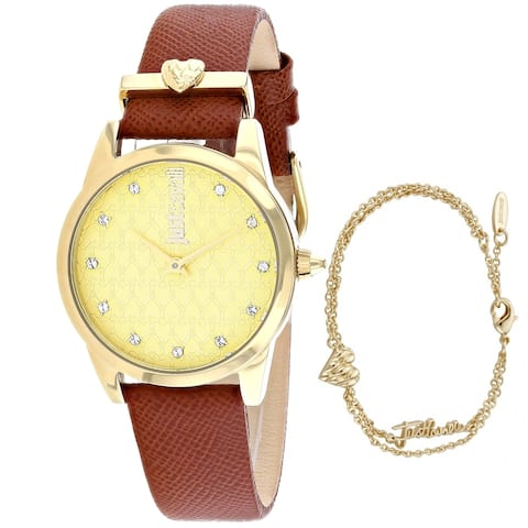 Just Cavalli Women's Vale Gold Dial Watch - JC1L010L0525 - One Size
