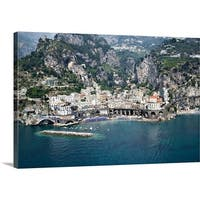 Premium Thick-Wrap Canvas entitled High angle view of a town Amalfi Atrani Amalfi Coast Salerno Campania Italy - Multi-color