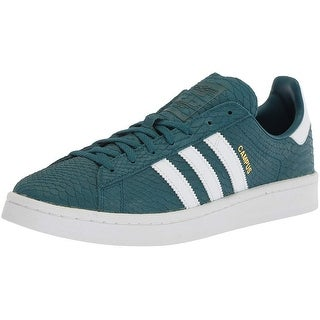 Adidas Womens campus Low Top Lace Up Running Sneaker (Option: chalk white/white/metallic gold - 10.5)