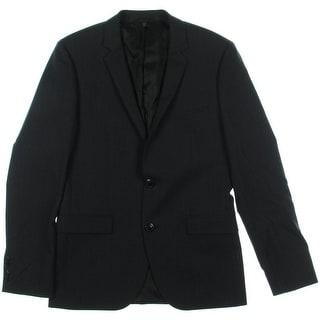 Hugo Hugo Boss Mens Adris2 Wool Notch Collar Two-Button Suit Jacket - 36R