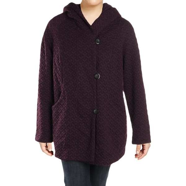 4c1ae8cbabf8 Shop Gallery Womens Plus Quilted Coat Fall Fleece - 1x - Free ...